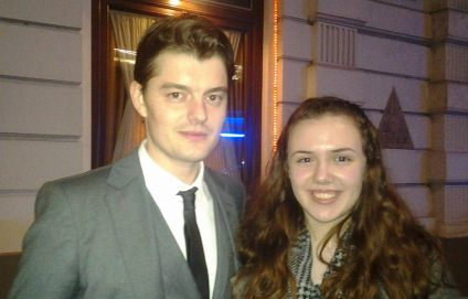 That's me with Sam Riley. You wouldn't believe the people you can meet in Vienna!